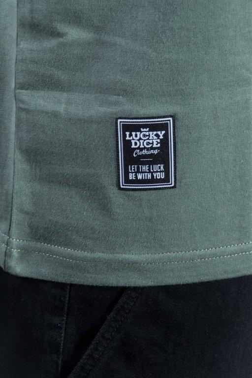 LUCKY DICE LONGSLEEVE EMBLEMS OLIVE-BLACK