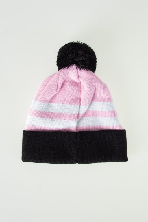 LUCKY DICE WINTER CAP 2 STRIPES PINK