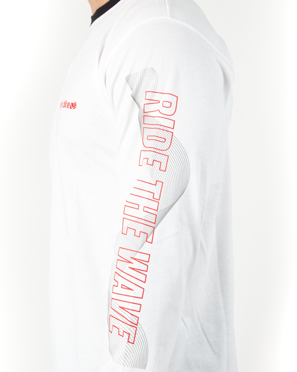 Longsleeve Lucky Dice Ride The Wave One White-Red