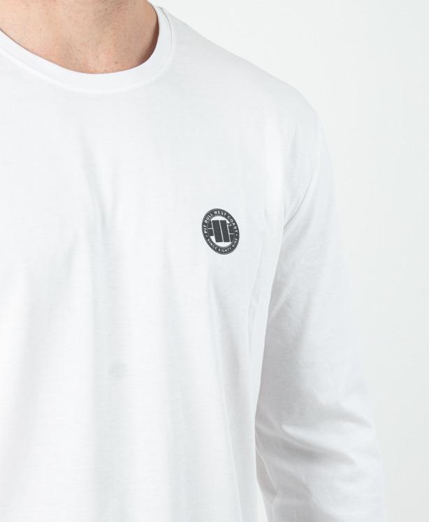 Longsleeve Pitbull Small Logo White