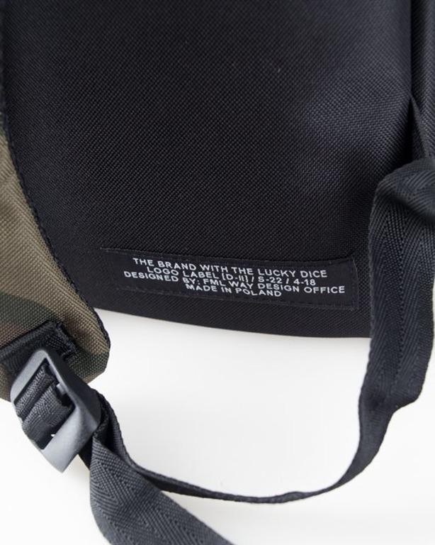 Lucky Dice Plecak Logo Black-Camo
