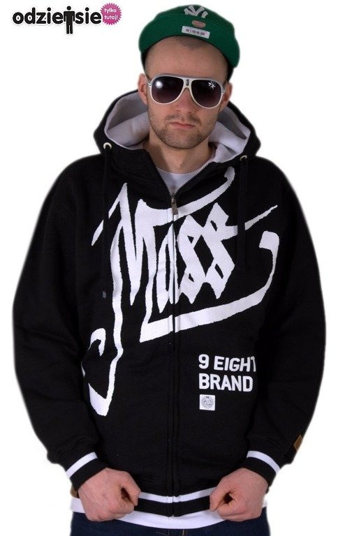 MASS BLUZA Z KAPTUREM ZIP HATE BLACK