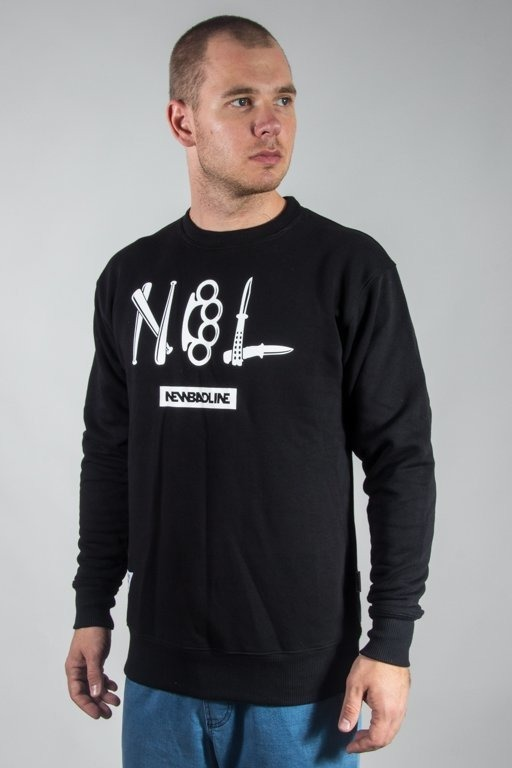 NEW BAD LINE CREWNECK CRIME BLACK
