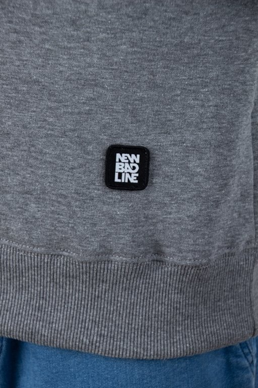 NEW BAD LINE CREWNECK CUT ICON MELANGE