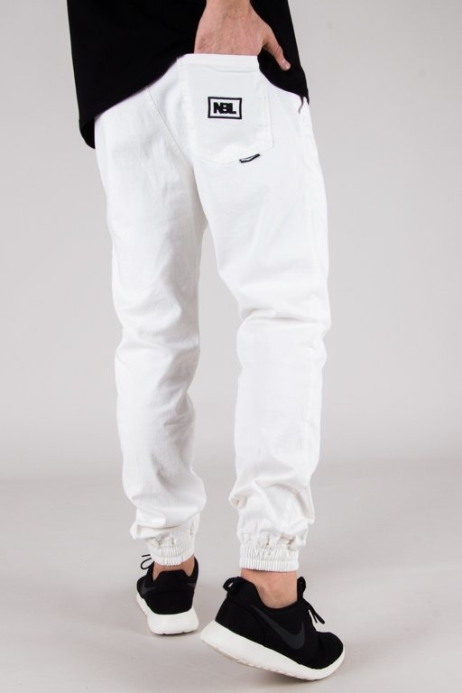 NEW BAD LINE PANTS CHINO JOGGER ICON WHITE