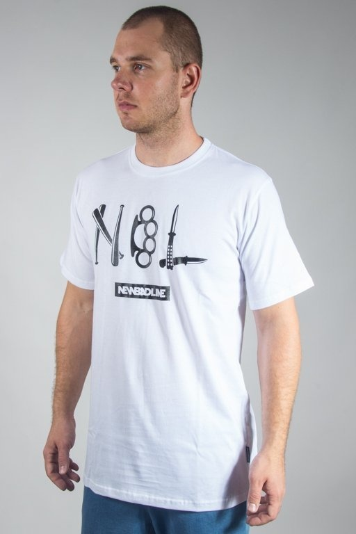 NEW BAD LINE T-SHIRT CRIME WHITE