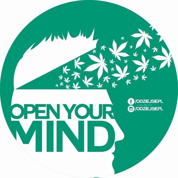 Odziejsie Vlepa Open Your Mind Green