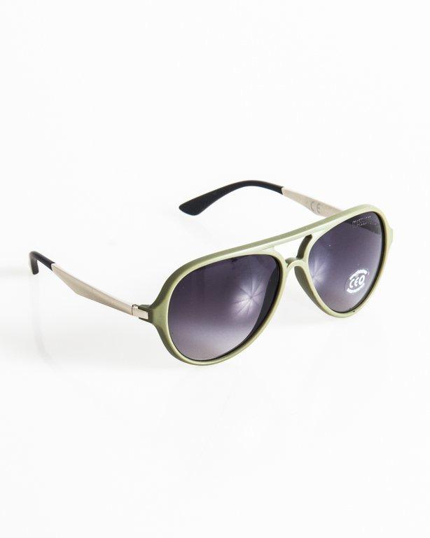 Okulary Mass George Matte Khaki-Silver