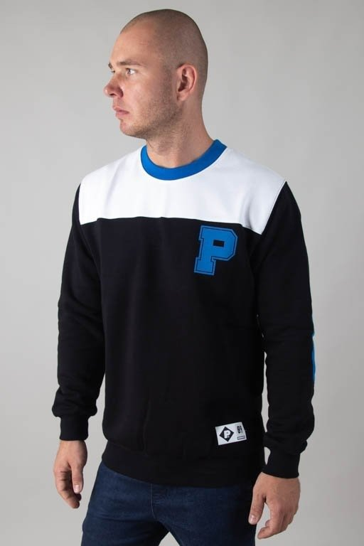 PATRIOTIC CREWNECK PA COLLEGE WHITE-BLACK