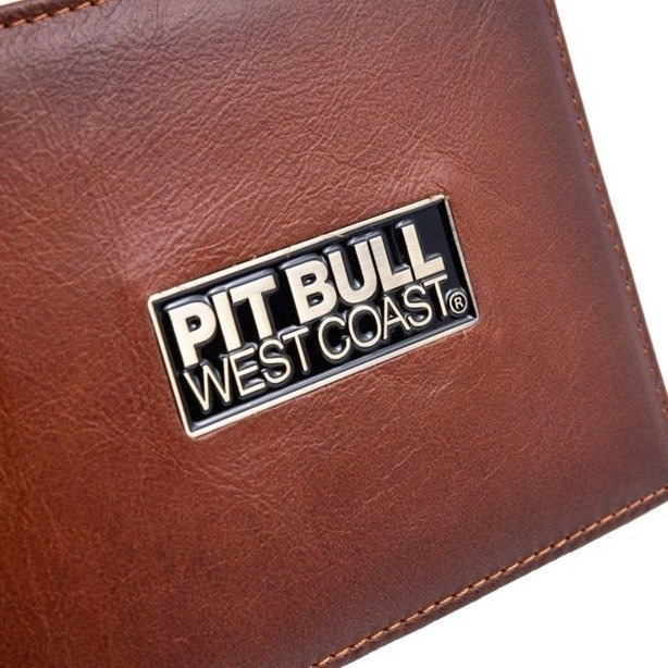 PIT BULL WALLET ORIGINAL LEATHER BRANT BROWN