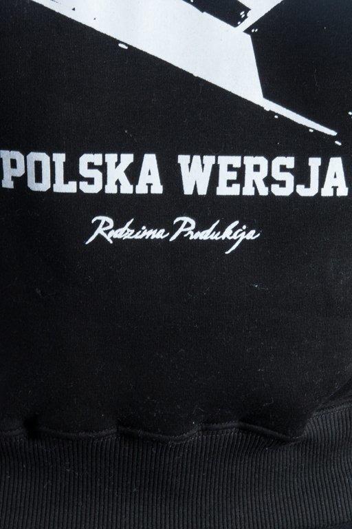 POLSKA WERSJA HOODIE KONTUR BLACK