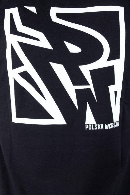 POLSKA WERSJA T-SHIRT TYŁ KWADRAT BLACK