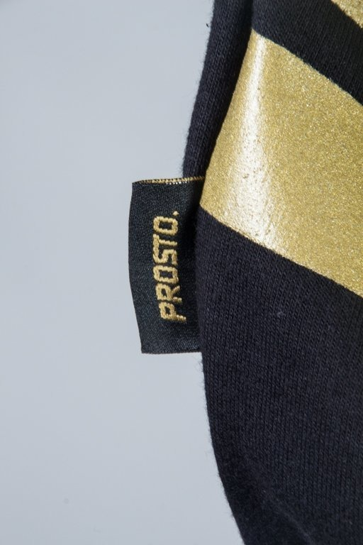 PROSTO BLUZA Z KAPTUREM ENSIGN BLACK-GOLD