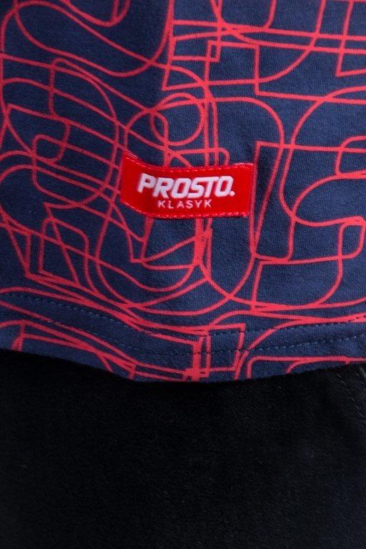 PROSTO T-SHIRT LINES NAVY-RED