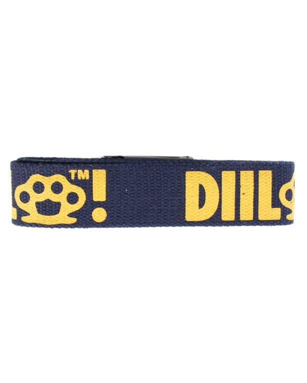 Pasek Parciany Diil Laur Navy-Yellow