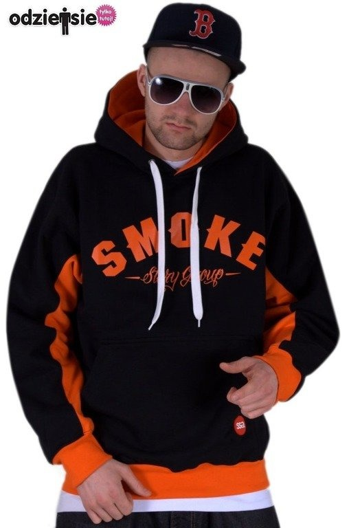 SSG BLUZA Z KAPTUREM SMOKE BLACK-ORANGE