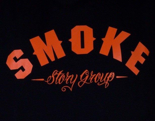SSG BLUZA Z KAPTUREM SMOKE BLACK-ORANGE