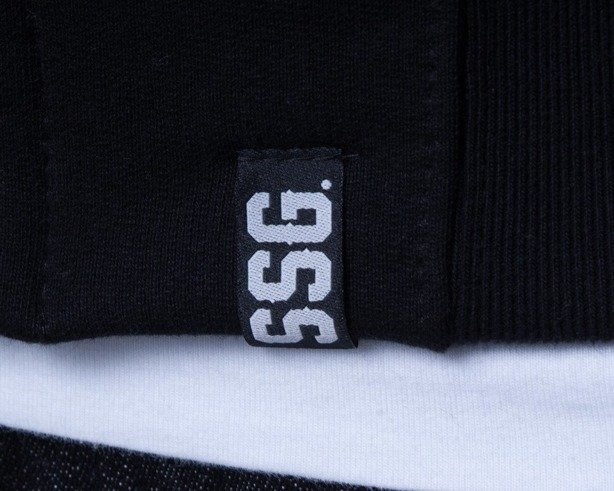 SSG BLUZA Z KAPTUREM ZIP SMALL SQUARE BLACK