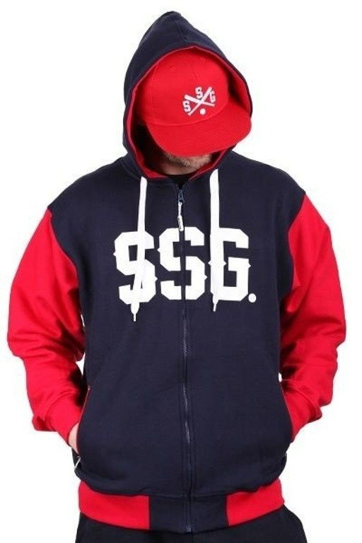 SSG BLUZA ZIP HORIZONTAL NAVY BLUE
