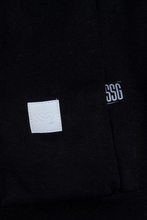 SSG HOODIE ZIP CLASSIC LOGO BLACK