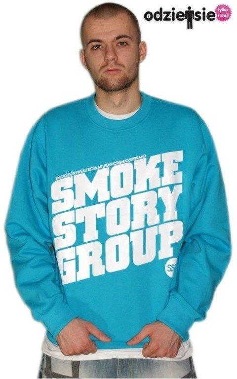 SSG SMOKE STORY BLUZA SM GROUP BLUE-WHITE