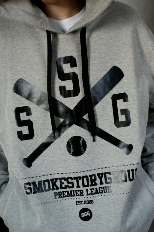 SSG SMOKE STORY GROUP BLUZA BASEBALL MELANGE