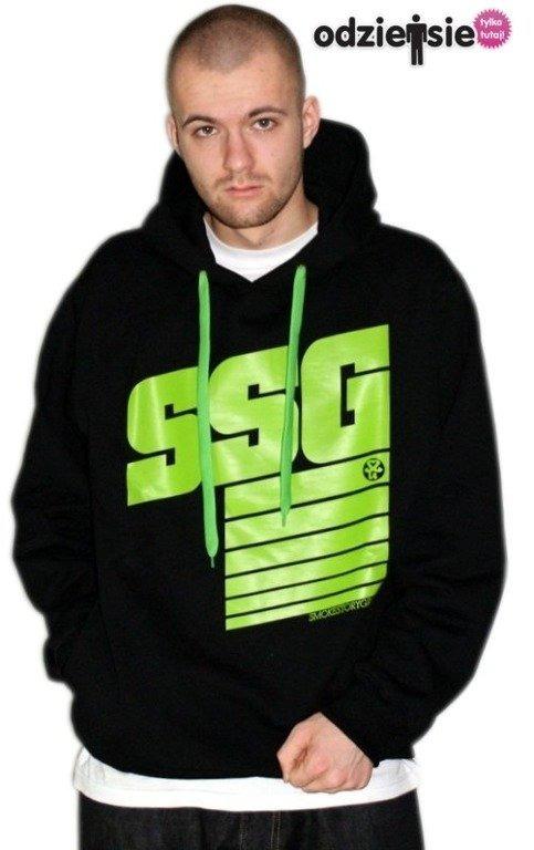SSG SMOKE STORY GROUP BLUZA STRIPS BLACK-GREEN