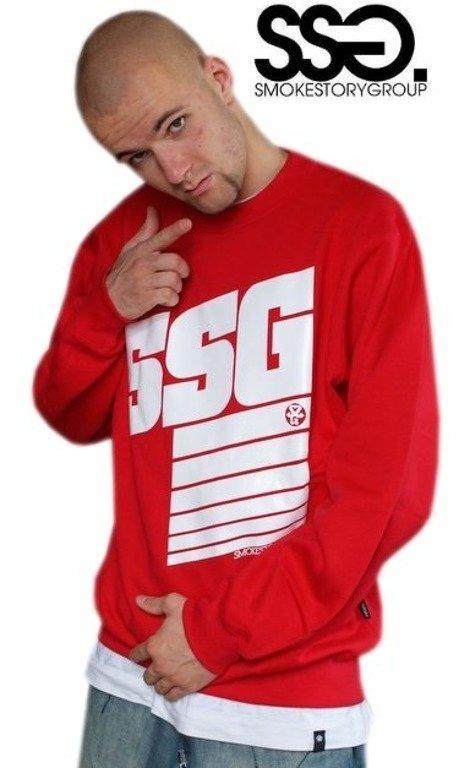 SSG SMOKE STORY GROUP BLUZA STRIPS RED