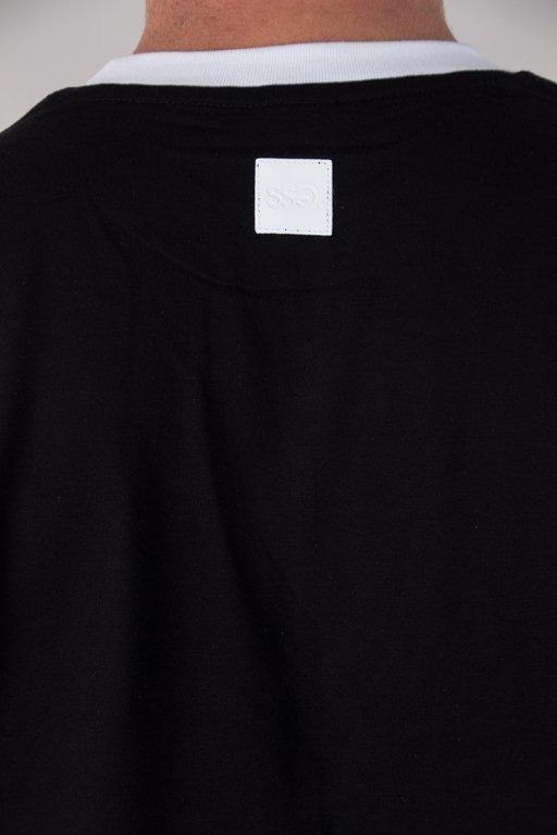 SSG T-SHIRT HORIZONTAL CUT WHITE-BLACK