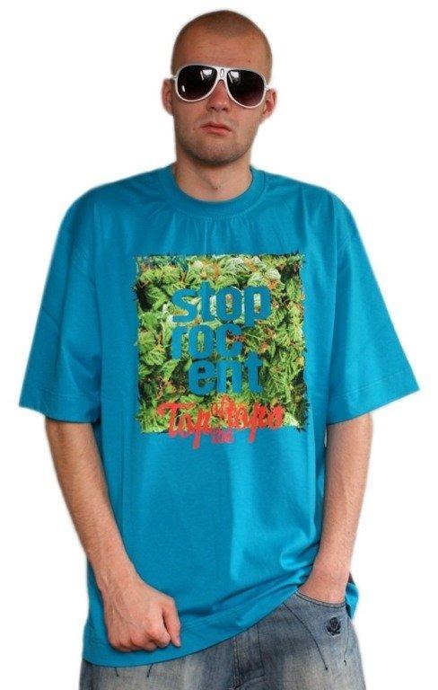 STOPROCENT KOSZULKA GRASS CUBE CYAN BLUE