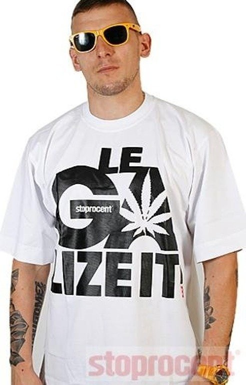 STOPROCENT KOSZULKA LEGALIZE IT WHITE-BLACK