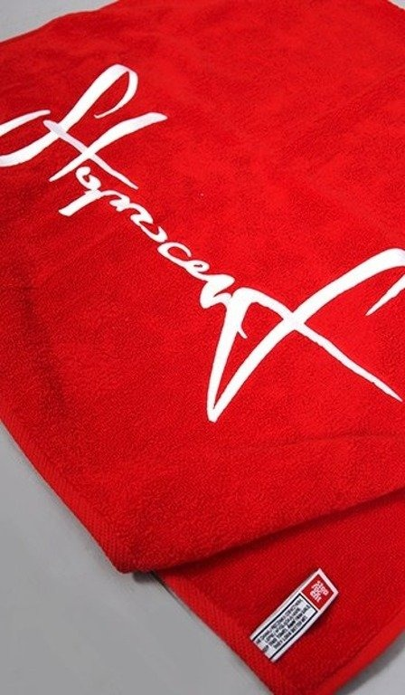 STOPROCENT RĘCZNIK 50x90 RED-WHITE