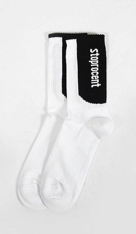STOPROCENT SKARPETKI SIMPLE WHITE-BLACK
