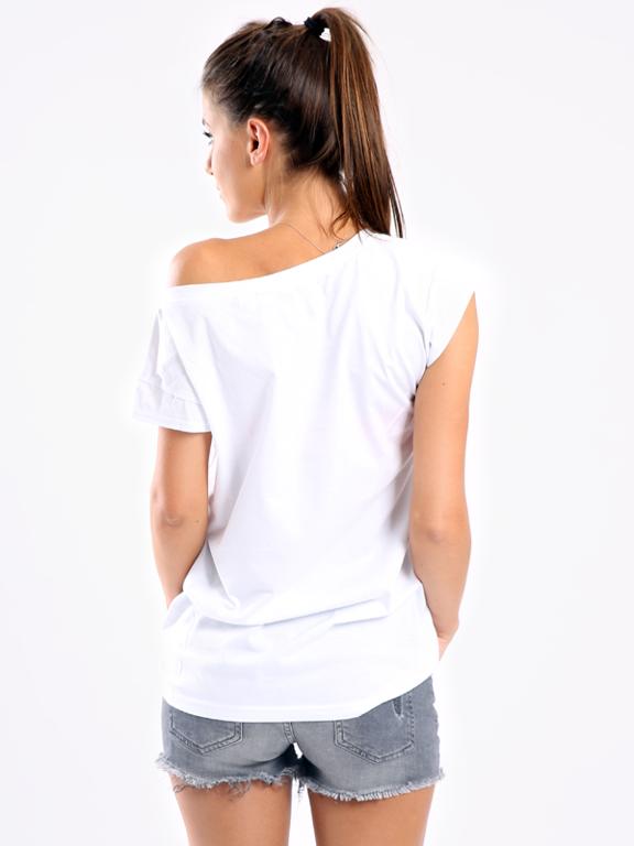 STOPROCENT T-SHIRT GIRL LEPSZA POŁOWA WHITE