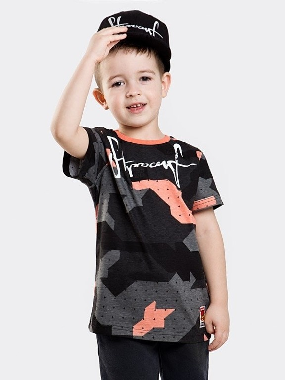 STOPROCENT T-SHIRT KID TAG18 CAMO CORAL