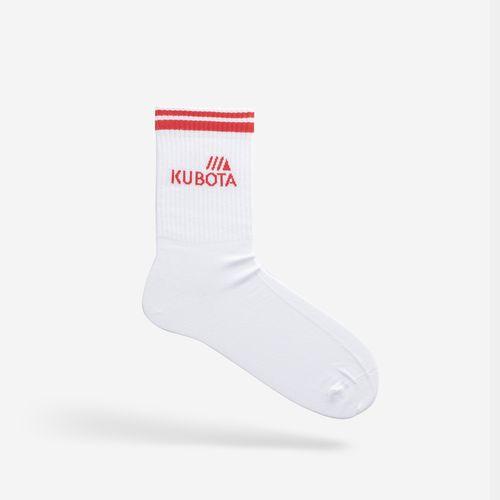 Skarpety Kubota Sport Białe / Czerwone