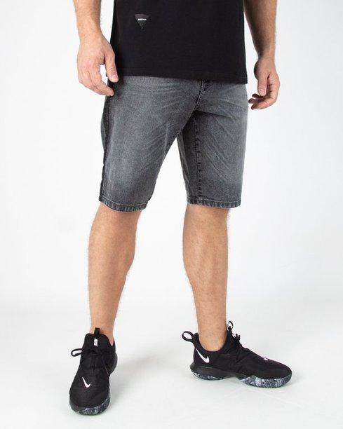 Spodenki Ssg Jeans Lampas Czarny Grey