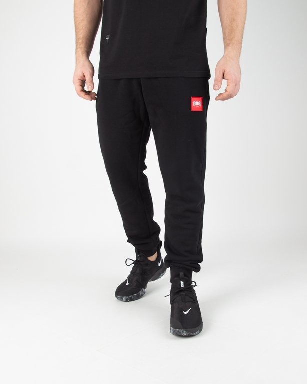 Spodnie Bor Dresowe New Kwadrat Black
