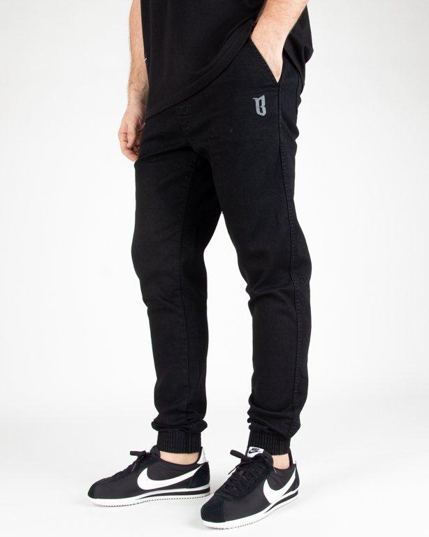 Spodnie Bor Jeans Jogger Fit B-Logo Black
