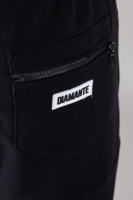 Spodnie Diamante Wear Dresowe Hipster Haft Black