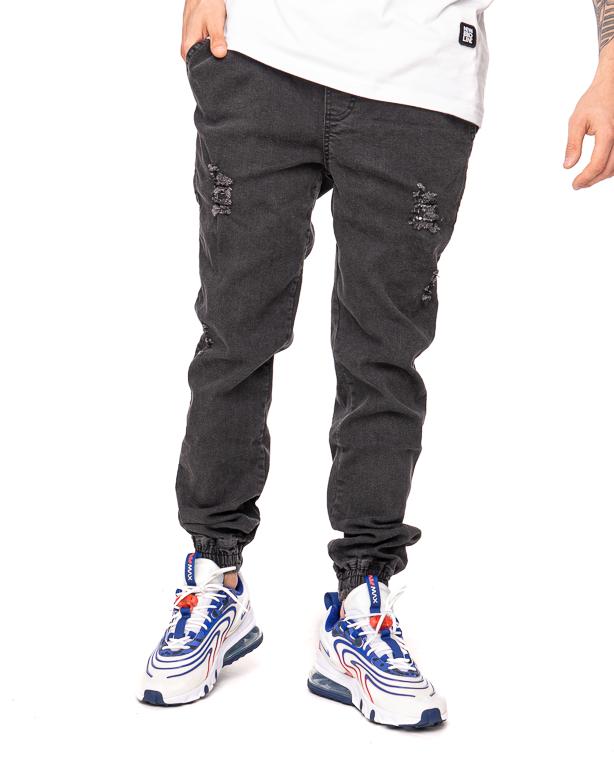 Spodnie Diamante Wear Jeans Jogger Rm Ripped Black