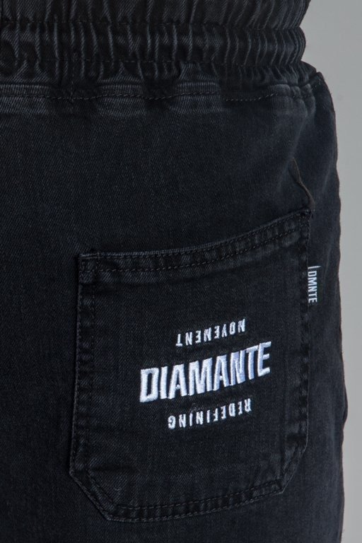 Spodnie Diamante Wear Jeansy Jogger Rm Black