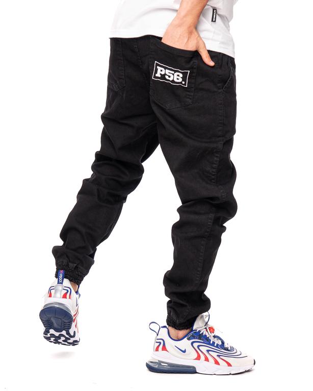 Spodnie Jeans Jogger Dudek P56 Czarne