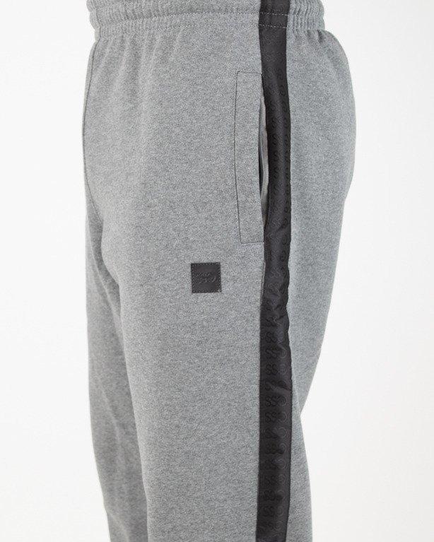 Spodnie SSG Dresowe Jogger Lampas Black-Grey