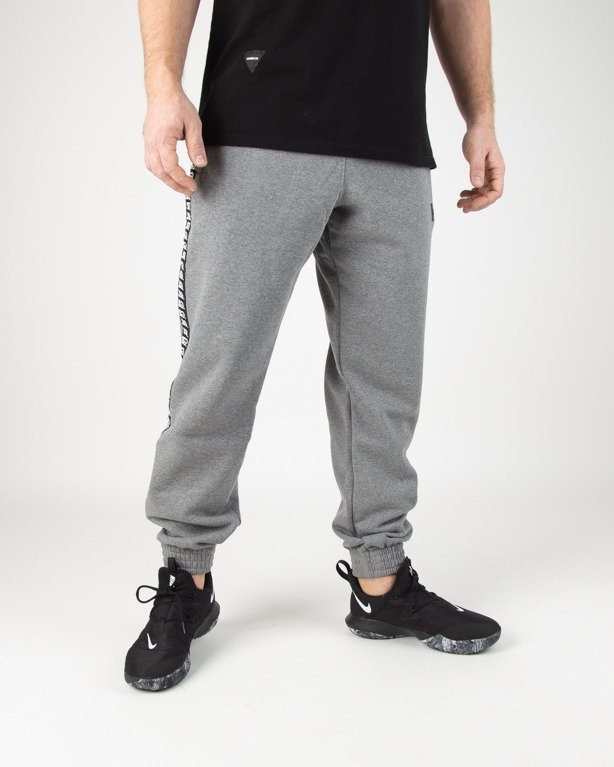 Spodnie SSG Dresowe Jogger Lampas Logo Grey