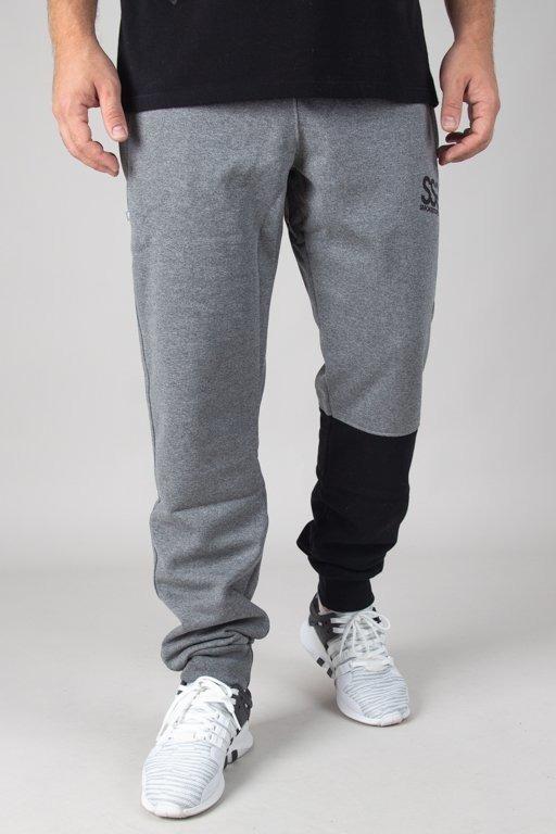 Spodnie SSG Dresowe Slim One Side Small Big Grey