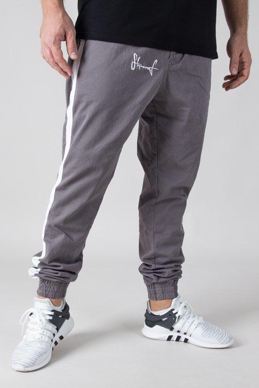 Spodnie Stoprocent Chino Jogger Classic Lampas Grey