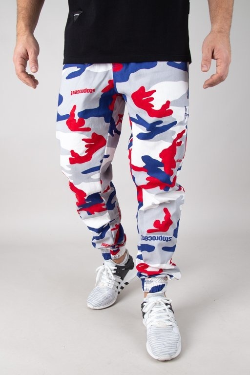Spodnie Stoprocent Chino Jogger Classic Red-Blue