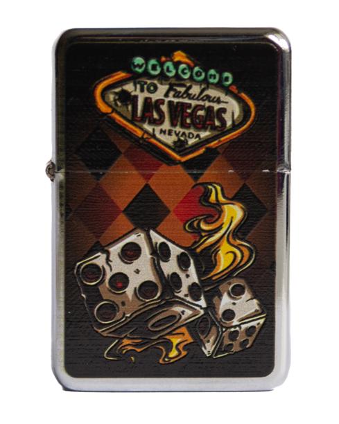 Zapaliczka Metalowa Poker Dice Silver 63